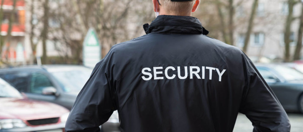 Security Guard Wearing Jacket